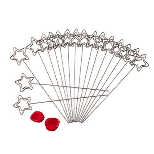 Yosoo Fotohalter Memohalter Weihnachten Memo Clip Büroklammer DIY Handwerk Halter aus Metall für Karte Memo Bilder Hochzeit Dekoration 50 Stück Pro Sack (Stern)
