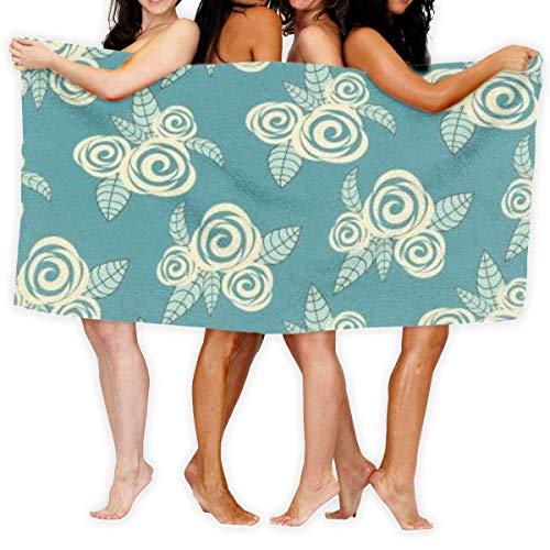 Toallas Shower Towels Bathroom Towels Toalla de baño de flores Suave y ligera para baño Piscina Yoga Pilates Manta de picnic Toallas Beach Towels 80X130CM