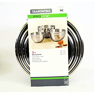 Tramontina ProLine 3 Pk Mixing Bowls 3 Qt 5 Qt 8 Qt