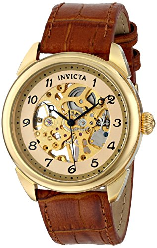 Invicta Men's 17188 Specialty Skeletonized Mechanical Hand-Wind Watch with Embossed-Leather Band