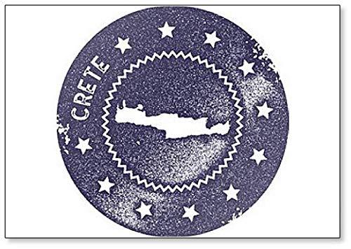 Kreta kaart Vintage. Retro Style - Koelkast Magneet