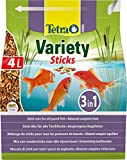 Tetra Pond Variety Sticks – Fischfutter Mischung bestehend aus drei verschiedenen Sticks, für die Gesundheit, Farbenpracht und Vitalität aller Teichfische, 4 L Beutel