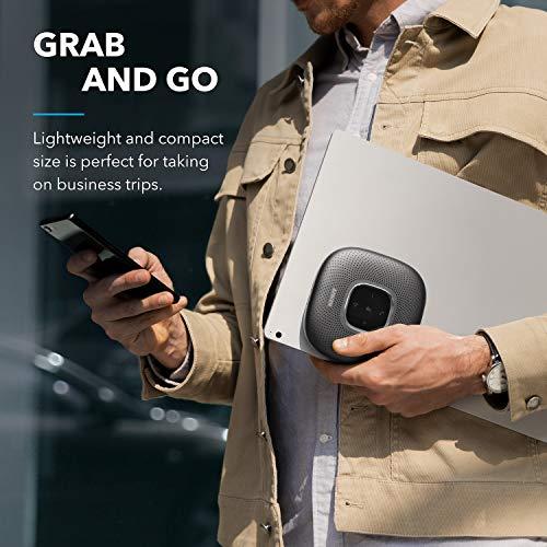 Anker PowerConf+ Bluetooth Lautsprecher mit Bluetooth Dongle, 6 Mikrofone, Fortschrittliche Stimmaufnahme, 24 Std Akku, Bluetooth 5, USB-C, Konferenzlautsprecher, ideal für Homeoffice