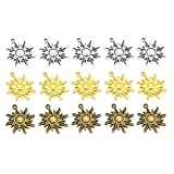 ELECTROPRIME 15PCS Retro Solar Connector Charms Pedants Jewelry Charms for Jewelry Making