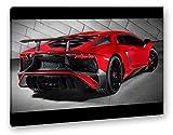 deyoli luxuriöser roter Lamborghini Format: 100x70 als