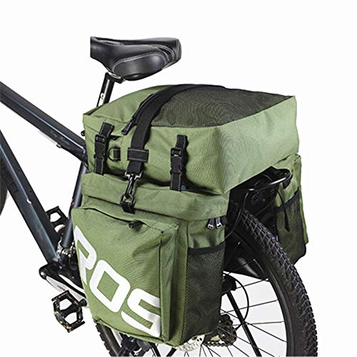 Lowest Prices! Bicycle Pannier Outdoor Bike Bicycle Cycling MTB 3 in 1 Rear Rack Pannier Shoulder Ba...