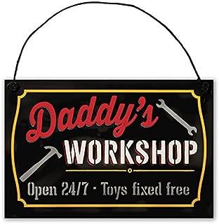 Father's Workshop Sign by StudioR12 | 7.5