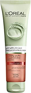 L'Oreal Paris Pure Clay Red Face Cleanser with Red Algae Exfoliates and Brightens, 150ml