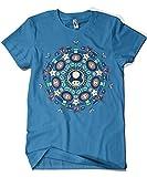 825-Camiseta One Up Mandala (Paula Garcia) (XXL, Azul Zafiro)