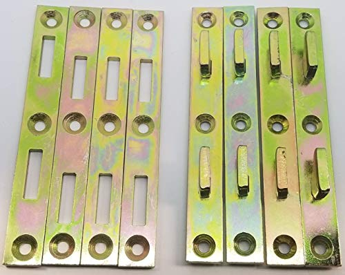 5' x 5/8' Bed Rail Fasteners Ylo Zinc 1/8' Mth Platte River Pkg 0f 4 Ea 130607