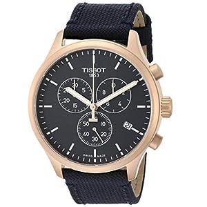 Tissot Men's Chrono XL Stainless Steel Swiss Quartz Sport Watch with Nylon Strap, Blue (Model: T1166173704100)