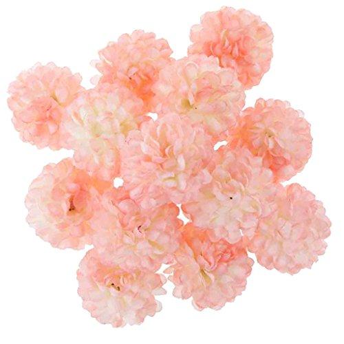 FLAMEER 30 UNIDS Mirando Las Flores Artificiales Verdaderas Margaritas Cabezas De Flores para DIY Ramos De Boda Centros De Mesa Arreglos Florales - Rosa Claro