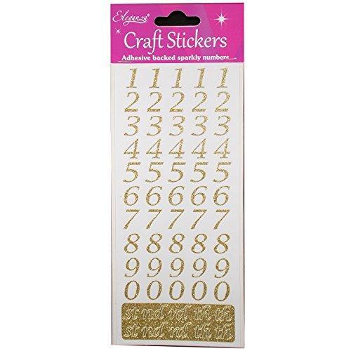 Eleganza Oaktree Crafts Stilisiertes Alphabet-Set, Silber Nr. 66 Zahlen-Set Gold