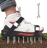 YADIMI Zapatos de aireador, Césped Zapatos, Césped Spikes Sandalias con 4 Correas Ajustables, para tu Césped, Jardín, Jardinería…