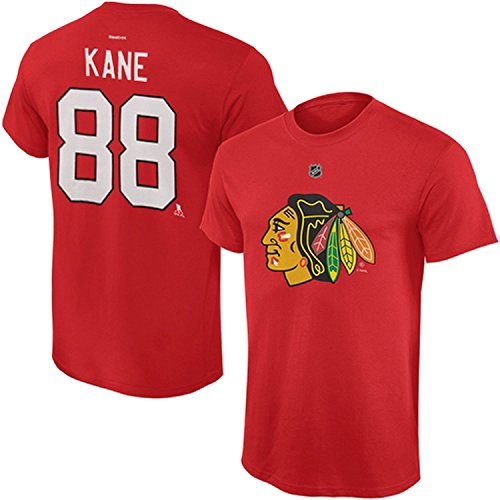 Outerstuff NHL Youth Team Color Player Name and Number Jersey T-Shirt (Patrick Kane, Medium 10/12)