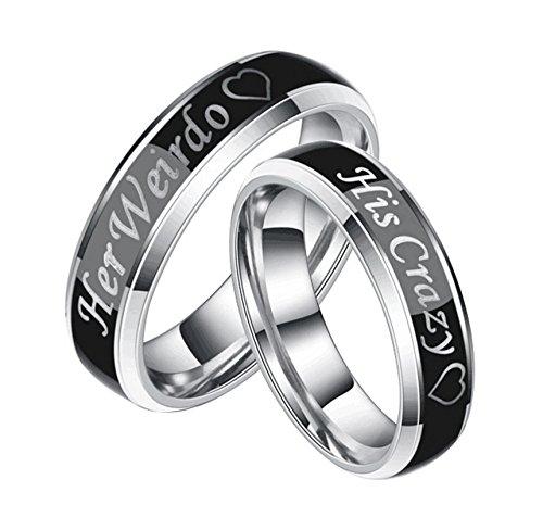 Anillo Compromiso Diamante Mujer deblisfille Joyería Anillos Hombre Oro Acero Inoxidable Anillos Corazon Plata,Plata