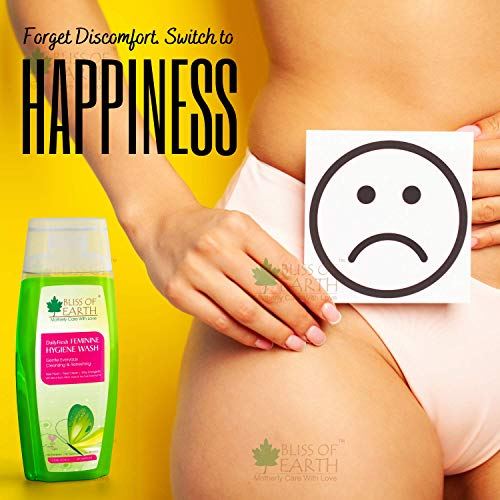 Bliss of Earth™ DailyFresh Feminine Hygiene Wash | 200ML | Enriched With Bliss of Earth Alcohol Free Witch Hazel & Australian Tea Tree Essential Oil | Great For Daily Intimate Care