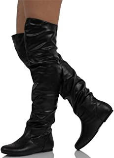4f757a06872 Amazon.com  Nature Breeze - Over-the-Knee   Boots  Clothing