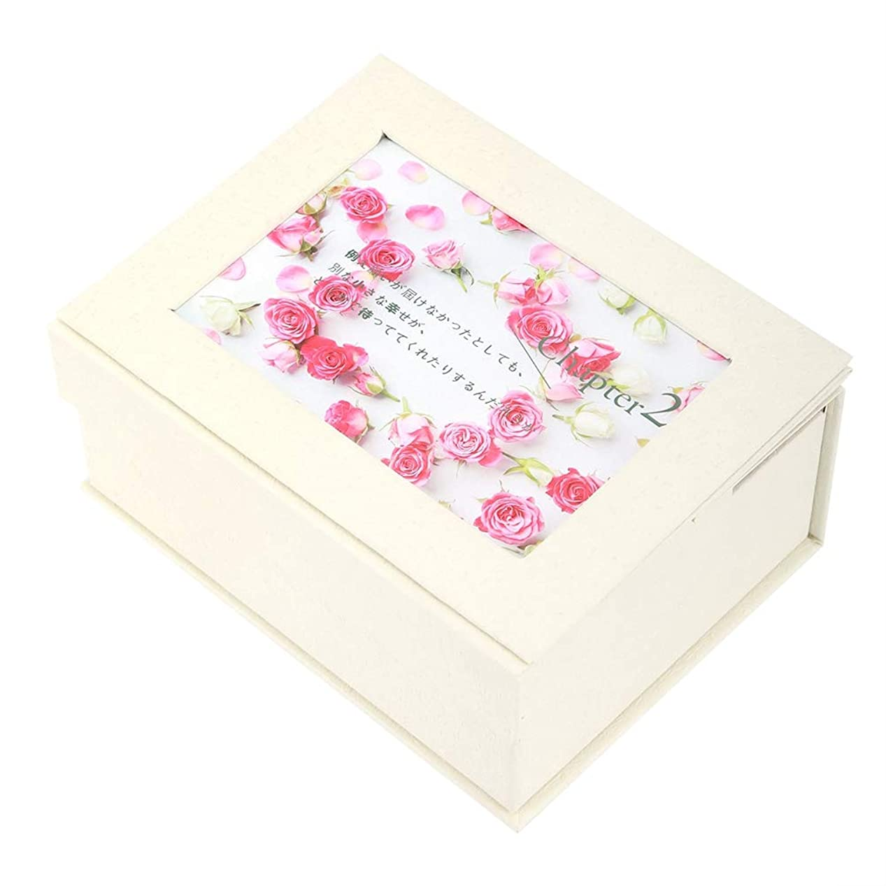 アルミニウム着実に対称石鹸の花のギフト用の箱、石鹸の花のギフト用の箱の女の子のお母さんの誕生日のクリスマスの結婚式のギフトの写真フレームが付いている花の石鹸(#1)