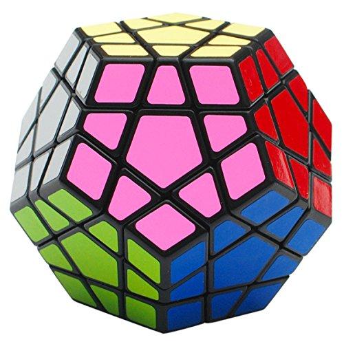 EASEHOME Megaminx Speed Magic Puzzle Cube, Dodecaedro Rompecabezas Cubo Mágico PVC Pegatina para Niños y Adultos, Negro