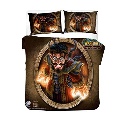 World of Warcraft - Juego de funda nórdica y 2 fundas de almohada (135 x 200 cm + 50 x 75 cm x 2)