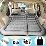 SAYGOGO SUV Air Mattress Camping Bed Cushion Pillow - Inflatable Thickened Car Air Bed with Electric Air Pump Flocking...