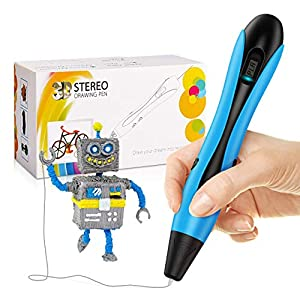 dmazing Pluma 3D Pen, Regalos de Navidad para Niños Regalos Niño 5-12 Años Juguetes para Niños de 7 8 9 10 Años Juguetes Educativos 5-12 Años Regalos Chicos 5-12 Años Los Ultimos Juguetes Azul