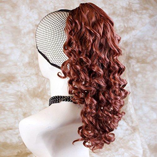 Fox Red Ponytail Irish Dance Hair Extension Spiral Curly Hair Piece