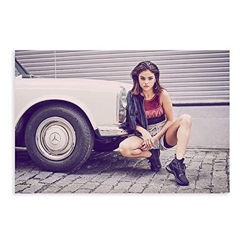 Selena Gomez 10 poster su tela, decorazione da parete per soggiorno, camera da letto, decorazione senza cornice: 30 x 45 cm