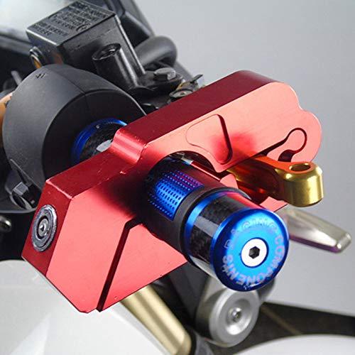 Bloqueo de Manillar de Motocicleta, Bloqueo de Palanca de Freno de Agarre Universal Anit Tapas de Robo Candados de Seguridad de Embrague Aleación de Aluminio CNC con 2 Llaves para ciclomotor,