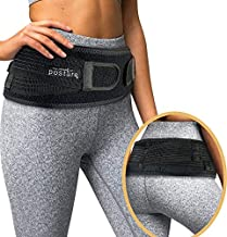 Vriksasana Sacroiliac Hip Belt for Women and Men That Alleviates Sciatic, Pelvic, Lower Back, Leg and Sacral Nerve Pain Caused by Si Joint Dysfunction| Trochanter Brace (Black, Regular)