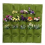 eurobuy - fioriera verticale da parete, 25 tasche, da giardino, verticale, da appendere alla parete, per coltivare fiori, in feltro, per giardino, interno ed esterno