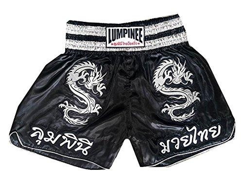 Lumpinee Muay Thai Box-Shorts, Schwarz, Größe S
