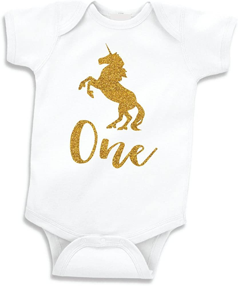Free Shipping New Unicorn Girl First Birthday Outfit One Year Girls Old Omaha Mall Sh