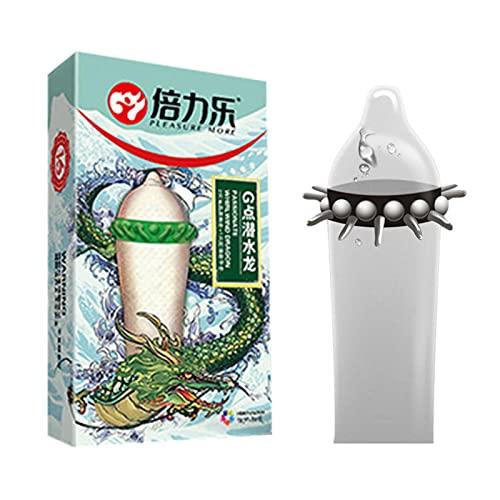 Condom Men, Preservativos Latex Sensitivos,Mangas De Espina Mejoradas, Picos Divertidos, Condones, Condones, Productos para Adultos