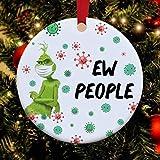 Corona 2020 Weihnachten Grinch mit Maske, Weihnachtsdekoration Grinch 2020 Ew People Ornament Xmas, Maske Funny Grinch 2020 Ornament