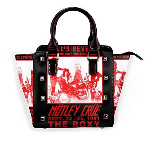 Hell 's Revenge Gig Poster Frauen Pu Leder Niet Tote Umhängetasche Umhängetaschen Handtaschen Geldbörse mit verstellbarem Riemen