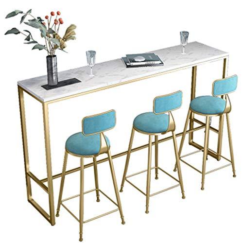 Table de Bar Table de Bar Maison Salon Balcon café Lait théière Table et Chaise sur la Table Haute Longue du Mur Simple et Pratique (Couleur : White, Size : 120x40x105cm)