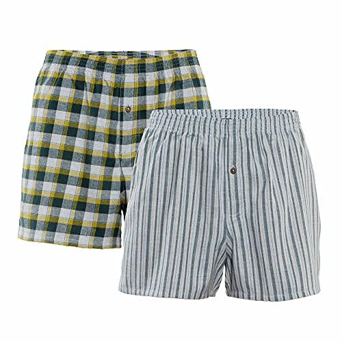 Living Crafts Boxer-Shorts, 2er-Pack XXL, Forest/Grey/Brass
