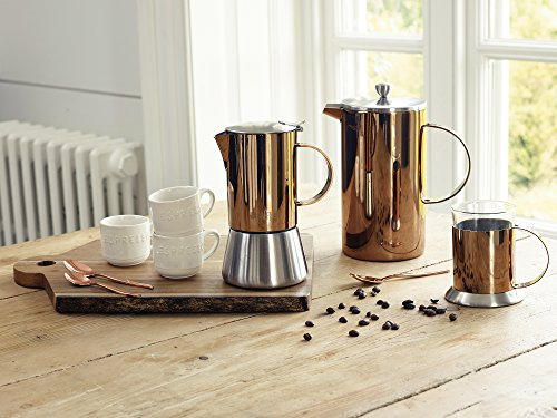 La Cafetière 5187803 Classic 8-Cup Double Walled Cafetière, 1 L (1¾ pints) - Copper Finish