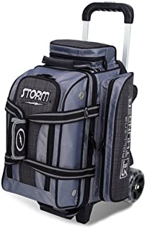 MICHELIN Storm Bowling Products 2 Ball Rolling Thunder Bowling Bag- Plaid/Gray/Black