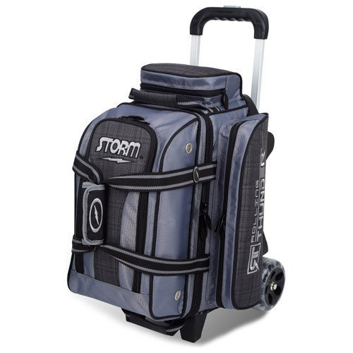 Storm Bowling Products 2 Ball Rolling Thunder Bowling Bag- Plaid/Gray/Black