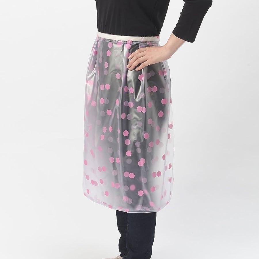 マットオートメーション共和党ワンタッチ 防水 エプロン 水玉ピンク フリーサイズ 日本製