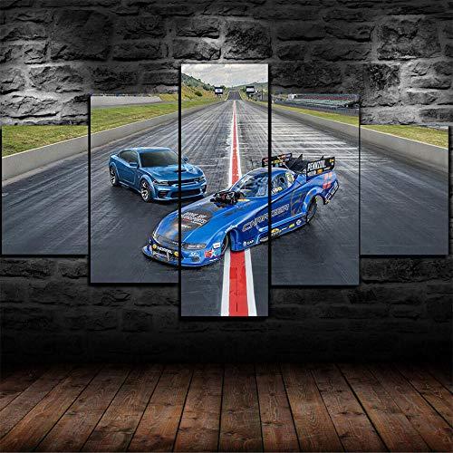 GMSM Impresiones sobre Lienzo 5 Piezas Rolls 11000 HP Cargador SRT Coche Poster Pinturas Decorativas Arte De Pared Moderno Cuadro Modular (Sin Marco)