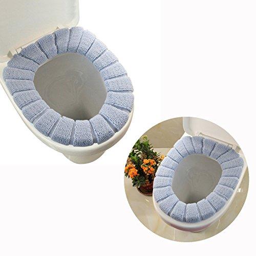 Cisixin Siège de Toilette en Tissu Chaud Protection, Couvercle Toilette Siège Housse pour abattant WC (Gris)