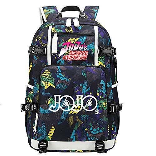 GOYING JoJo's Bizarre Adventure Jonathan Joestar/Joseph·Joestar Anime Laptop Backpack Bag Travel Laptop Daypacks Lightweight Bag with USB-C
