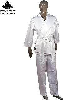 Pine Tree Sangmoosa Middleweight 7 oz Student Karate Uniform, White