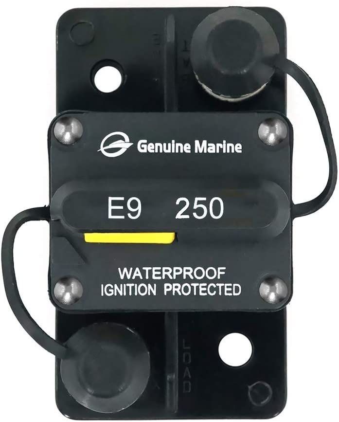 50A 50-Amp Circuit Breaker Waterproof and Dustproof Surface-Mount Trolling with Manual Reset by Genuine Marine