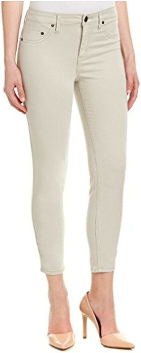 SPANX Womens SlimX Tencel Cropped Pants, Sateen Khaki, 29