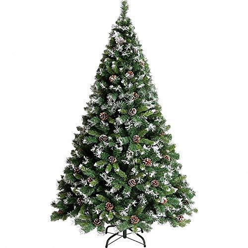 Miarui Copo de Nieve Cono de Pino árbol de Navidad árbol de Navidad nevado Árbol de Navidad Artificial Verde Altura 120-210cm para Decoración Navideña,1.2m